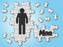 Icon man puzzle Royalty Free Stock Photography