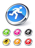 Icon man running Stock Images