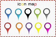 Icon map Stock Photography