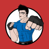 Icon martial arts Royalty Free Stock Photo