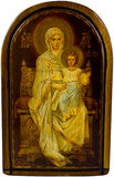 Icon Mary and Christ Stock Image