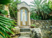 Icon of Mary Magdalene on the monastery Mary Magdalene Stock Photo