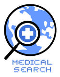 Icon medical search Royalty Free Stock Photo