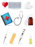 Icon medical set Royalty Free Stock Photo