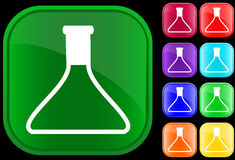 Icon of medical vial. On shiny buttons Stock Images
