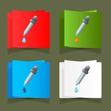 Icon medicine dropper with a drop vector Royalty Free Stock Photo