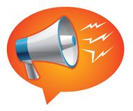 Icon megaphone - communication concept Royalty Free Stock Photo