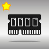 Icon of memory chip RAM hardware rom power. Icon of memory chip RAM hardware rom power black Icon button logo symbol concept high quality on the gray background Royalty Free Stock Image