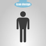 Icon of men on a gray background. Vector illustration Stock Image
