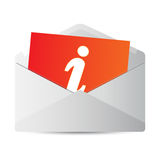 Icon message 2d. On white background Stock Photography