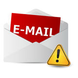 Icon message 2d with exclamation sign Royalty Free Stock Image