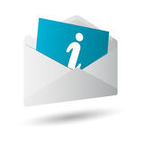 Icon message 3d Royalty Free Stock Image