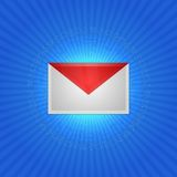 Icon message envelope Royalty Free Stock Images