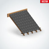 Icon Metal Cover on Roof Royalty Free Stock Image