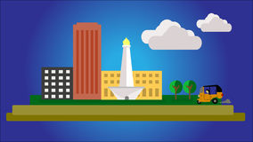 Icon of Metropolis City of Indonesia Stock Images