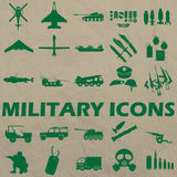 Icon military green being a rubber stamp Stock Image