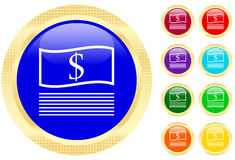Icon of money. On shiny buttons Royalty Free Stock Photography