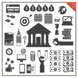 Icon money business vector Transfer computer bank map world Royalty Free Stock Photography