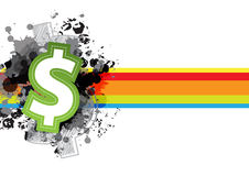 Icon money design Royalty Free Stock Image