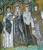 Icon mosaic in the Basilica of San Vitale Royalty Free Stock Photography