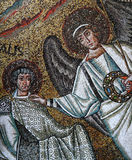 Icon mosaic in the Basilica of San Vitale Stock Photos