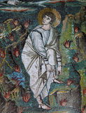 Icon mosaic in the Basilica of San Vitale Royalty Free Stock Photo