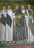 icon mosaic in the Basilica of San Vitale Royalty Free Stock Images