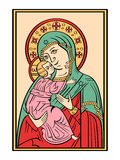 Icon of the Mother of God Royalty Free Stock Photos