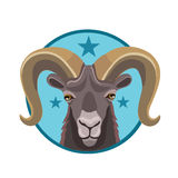 Icon mountain goat Stock Photography
