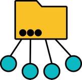 Icon - Multipurpose folder - Vector stock illustration