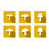 Icon mushrooms. The symbol of the mushroom forest Stock Image