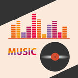 Icon music. Flat design, vector illustration, vector vector illustration