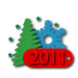 Icon New Year Stock Images