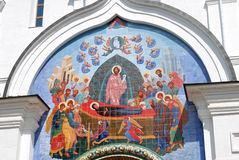 Icon non the Assumption Church facade in Yaroslavl Royalty Free Stock Image