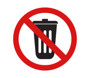 Icon not throw rubbish Royalty Free Stock Photo