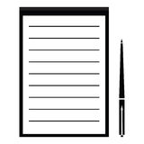 Icon notebook and pen Royalty Free Stock Photos