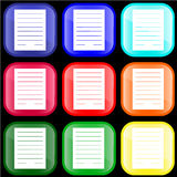 Icon of notes royalty free illustration