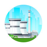 Icon Nuclear Power Plant Royalty Free Stock Photos