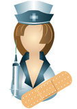 Icon of nurse Stock Photos