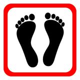 Icon Of Human Footprints On A White Background. Vector Illustration. Stock Images