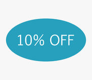 Icon 10% off illustrated Stock Photo