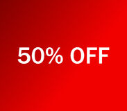 Icon 50% off illustrated Royalty Free Stock Images