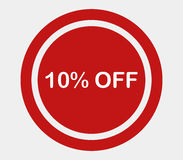 Icon 10% off illustrated Royalty Free Stock Photo
