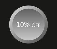 Icon 10% off illustrated Stock Image