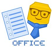 Icon office Stock Image