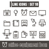 Icon office equipment line black Modern Style vector on white ba Royalty Free Stock Image