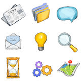 Icon set. Icon office set, vector illustration Royalty Free Stock Photo