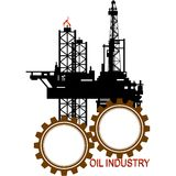Icon of the oil industry Royalty Free Stock Photo