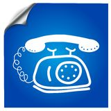 Icon old phone drawn marker. For designs in different media fields Royalty Free Stock Images