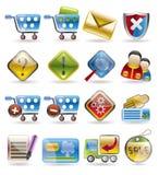 icon online set shop 免版税库存图片